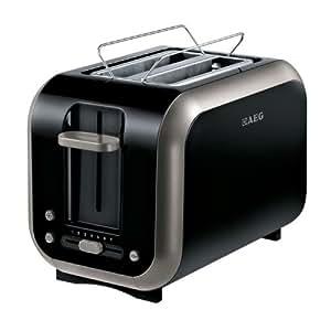 AEG AT 3110 Grille-pain automatique Noir/argent 870 W (Import Allemagne)