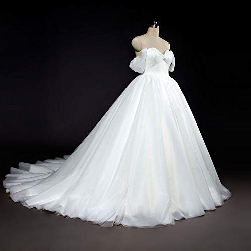 FuweiEncore Die Braut Brautkleid Wort Schulter Tube Top Luxus Long Tail Hochzeit war dünn einfach...