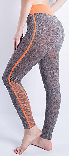 JIASHA Absorbono le donne Yoga Power Flex Yoga Pantaloni Nine Pantaloni 15
