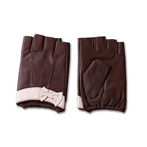 Nappaglo donne guanti in pelle nappa mezzo dito senza dita di fitness outdoor guidando moto guant