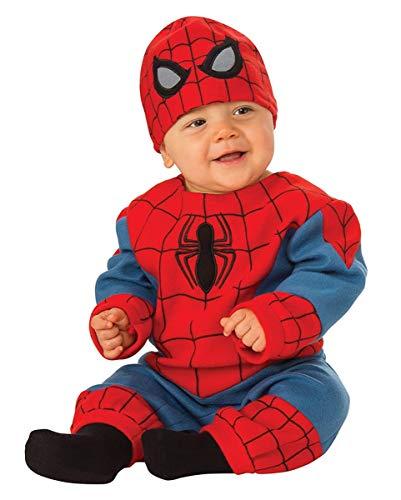 (Horror-Shop Originales Spiderman Baby Kostüm für Kleine Superhelden S 6-12 Monate)