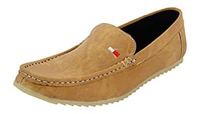 LeatherKraft Men's Beige Loafers-5 UK/India (39 EU)(LKLFDNMBG)