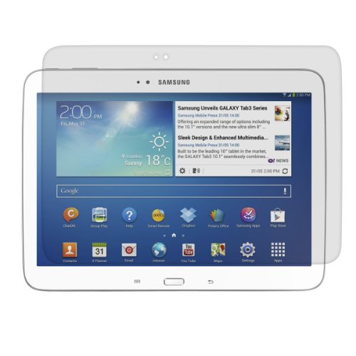 kwmobile Samsung Galaxy Tab 3 10.1 P5200/P5210 Folie - Full Screen Tablet Schutzfolie für Samsung Galaxy Tab 3 10.1 P5200/P5210 entspiegelt (Samsung Screen Protector Tablet 3)