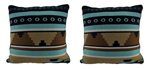 Things2Die4 Rustic Southwest Lodge Dekorative Fleece-Überwurfkissen, 45,7 cm, 2 Stück