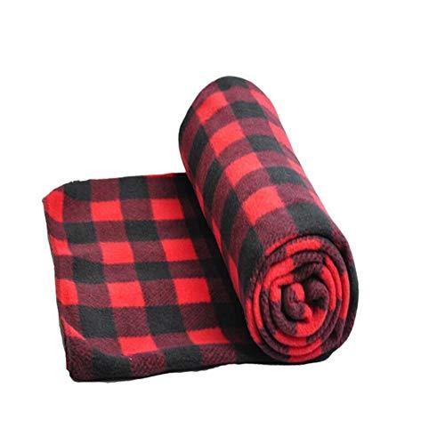 Automotive-Electric-Blankets, JanTeel 12V Ultra Weiche Elektrisch beheizte Heizdecke Beheizbare Bequeme Polar Vlies Reise Auto Decke mit Überhitzungsschutz,Wärmedecke für LKW-Boote oder RV (Rot)