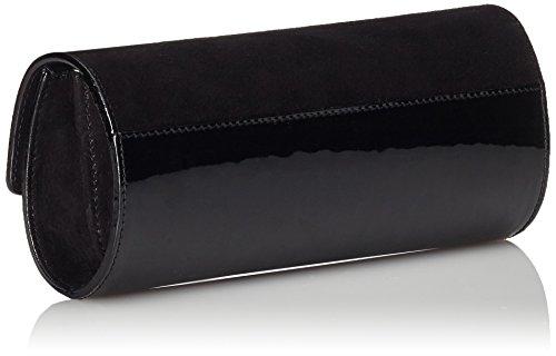 Pollini Damen Borsa Vernice+Camoscio Nero Clutches, 10x24x4 cm Schwarz (Schwarz 00A)
