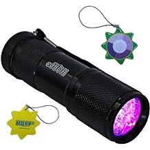 HQRP Profesional Linterna 9 LED UV Ultravioleta 365 nM Antorcha lámpara más HQRP Medidor del sol