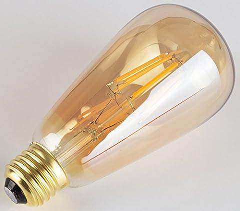 GPCT [antique] [clair] [à cage d'écureuil Edison 40W Filament incandescent] ampoule vintage. lumineux lumière tamisée W/[100Lumen] & E26Base de l'ampoule. Idéal pour la maison, les fêtes, chambre à coucher, cuisine