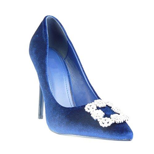 Schmuck Schuhe Stiletto Blau Pumpe Damen 11 Stiletto Heel Angkorly Sexy cm Strass High w05YqFpx
