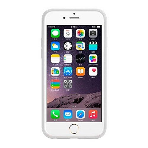 JING Pour IPhone 6 / 6S, texture verticale TPU Frame Plastic Protective Case ( Color : Black ) Black