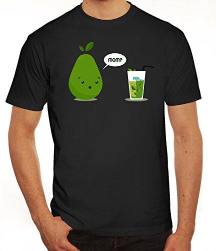 Geschenkidee Herren T-Shirt mit Mom - Juice Motiv von ShirtStreet Schwarz