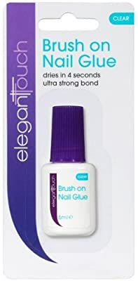 Elegant Touch Brush On Acrylic Nail Adhesive Glue - Clear