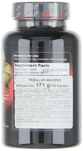 BioTech USA Tribulus Maximus (1500) 90 Tabletten, 1er Pack (1 x 171 g)