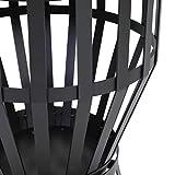 Kamino Flam Grill und Feuerkorb Nika, Feuerschale mit Grillrost, runder Gartenkamin mit Dreibein-Gestell, schwarz, pulverbeschichtetes Stahlblech für Kamino Flam Grill und Feuerkorb Nika, Feuerschale mit Grillrost, runder Gartenkamin mit Dreibein-Gestell, schwarz, pulverbeschichtetes Stahlblech