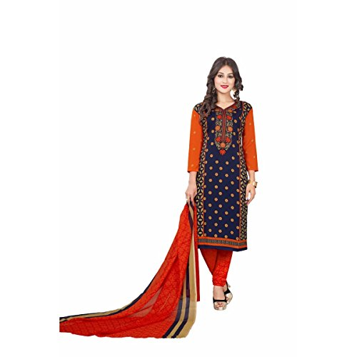 SALWAR HOUSE Synthetic Fabric Multicolor Dress Material For Women's