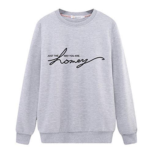 Akquama felpe con cappuccio felpe 3d-pullover modelli primaverili,maglioni,studentesse,lettere a colori semplici,modelli sottili,cappotti a maniche lunghe,camicie,xl,grigio