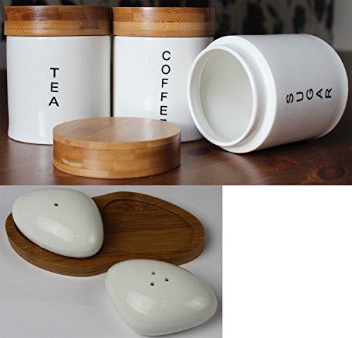 Crema Set contenitori rotondi Barattoli per tè,