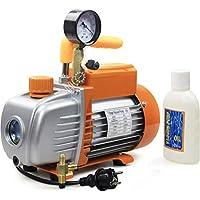 BACOENG 3CFM Einstufige Vakuumpumpe 85 L/Min Unterdruckpumpe mit Manometer HVAC
