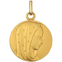 Premier Carat Médaille de baptême Vierge Etoilée -Or 9 carats