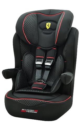 Osann Kinderautositz i - max SP Isofix Ferrari Gran Tourismo schwarz carbon - optik, 9 bis 36 kg, ECE Gruppe 1 / 2 / 3, von ca. 9 Monate bis 12 Jahre, mitwachsende Kopfstütze