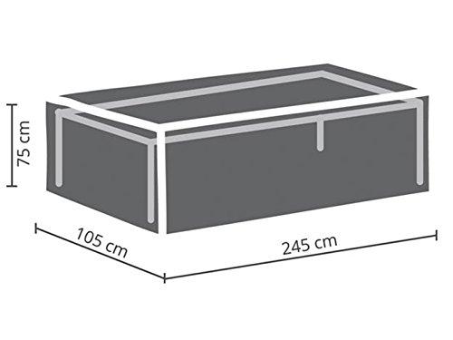 Perel Garden OCT240 Protective Cover for Garden Table Maximum 240 cm, Anthracite, 245 x 105 x 75 cm