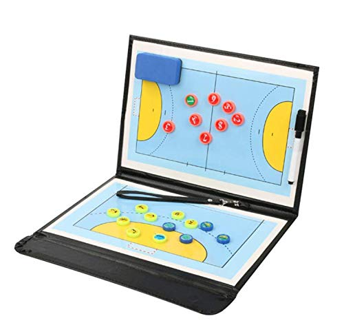 Handball Taktische Board Basketball Board Taktische Faltbare PU Handball Basketball-Game-Board-Training Magnet Clipboard ()