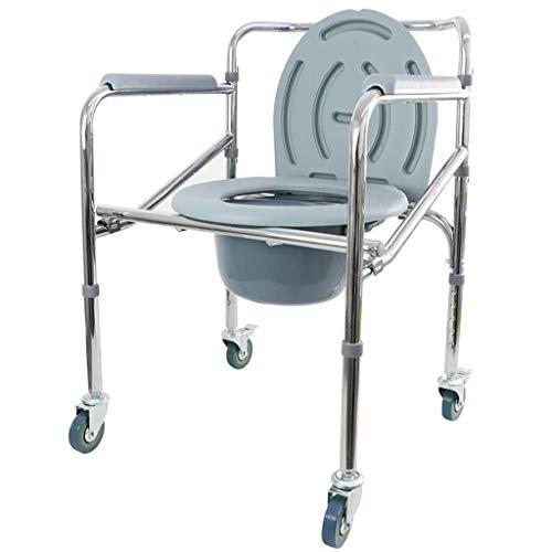 WCWC Flaschenzug Kommode Stuhl Senioren Behinderte Sitzen Faltbare Höhenverstellbar Stuhl Wc Badezimmer WC-Schüssel Rutschfester Zugänglichkeitsstuhl Schwangere Frau Kommodenstuhl