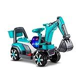 LINGLING-Auto giocattolo Escavatore per Bambini Bulldozer Engineering Car Toy Model Car per Bambini (Colore : Blu, Dimensioni : L.)