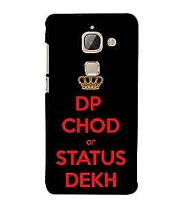 DP Chod Status Dekh 3D Hard Polycarbonate Designer Back Case Cover for LeEco Le 2s :: Letv 2S :: Letv 2