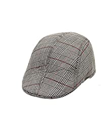 Sir Michele Grey Check Golf Cap for men