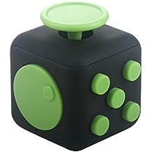 Fidget Cube Es Un Juguete Alivia El Estrés Y la Ansiedad Que Es El Mejor Regalo Para Niños Y Adultos (verde negro)