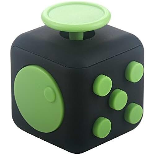 fidget spinner el nuevo juguete de moda Fidget Cube Es Un Juguete Alivia El Estrés Y la Ansiedad Que Es El Mejor Regalo Para Niños Y Adultos (verde negro)