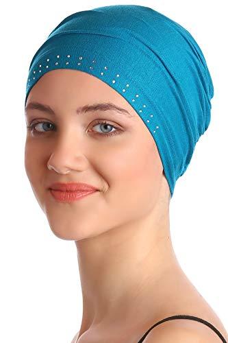 Deresina Headwear Berretto Essenziale Anteriore ingioiellato per la chemio