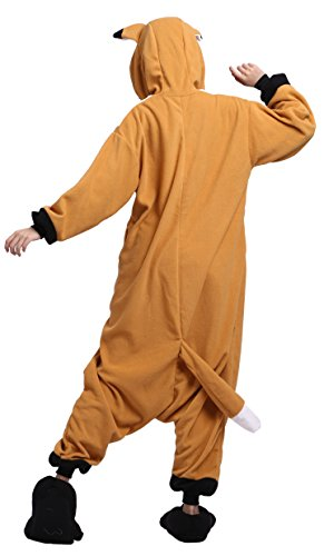 Imagen de cuteon unisexo adulto dibujos animados animal kigurumi pijama ropa de dormir encapuchado cosplay disfraz zorro l for altura 168 177cm alternativa