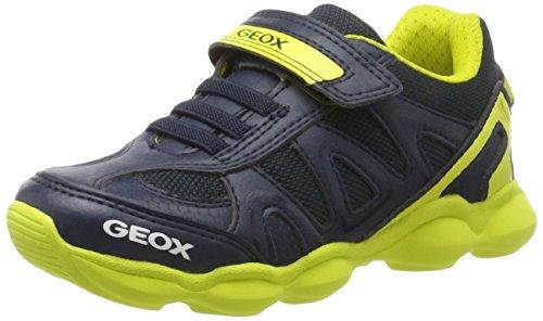 Geox J Munfrey a, Zapatillas para Niños, Azul (Navy/Lime), 31 EU
