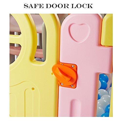 Playpens Baby Kids 13 Panel Home Indoor Outdoor Versatile Multicolor Safety Play Center Yard 228×160×68cm  qiangzi
