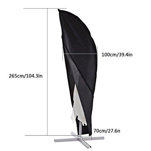 Xiliy copertura ombrellone impermeabile fodera protettiva per ombrellone(265x 100x 70cm)