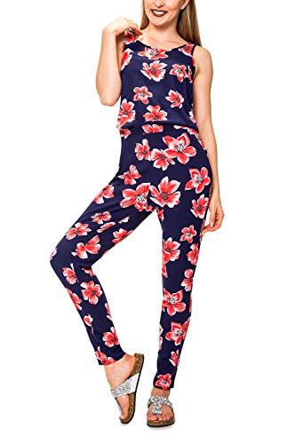 ONLY Damen Jumpsuit mit Print Overall Einteiler Playsuit (M, Night Sky/Berlin Flower)