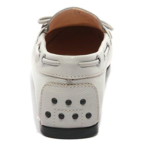 B1507 mocassino donna TOD'S LACCETTO OCCHIELLI scarpe grigio loafer shoes women Grigio