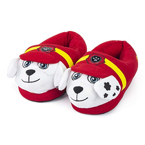 Girls Boys Kids Paw Patrol 3D Marshall Slippers Red Non Slip Cosy Kids 10 11 12 13 1 2 UK