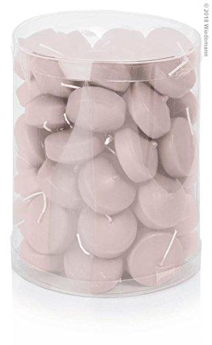 Bougies flottantes Lot de 50 48 mm (Rosé)