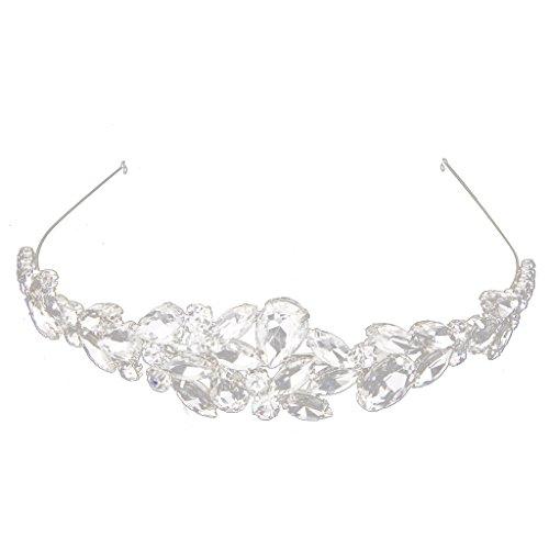 Baile Nupcial De La Boda Preciosa Tiara Corona Cristal Rhinestone Diadema