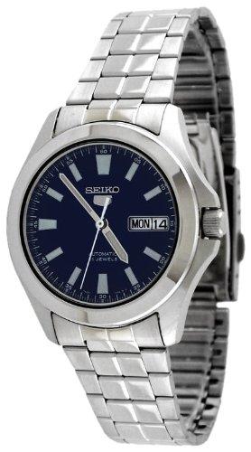 Seiko Herren-Armbanduhr XL Analog Automatik Edelstahl SNKL07K1