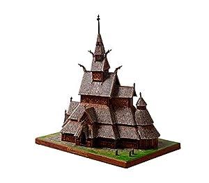 CLEVER PAPER- Puzzles 3D Iglesia de Madera de Borgund, Noruega (14361)