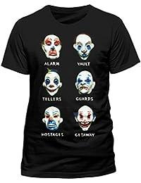 BATMAN Men's Dark Knight-theif Masks T-Shirt, Black, Medium