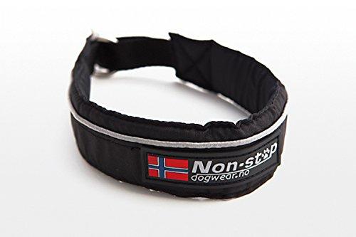NON-STOP Halsband HALF CHOKE COLLAR mit Zugstopp für Hunde Schwarz 45cm
