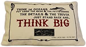 Think Big Cotton Cushion, By White Candle Company