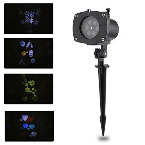 Blackpoolal led proiettore luci, lampada proiettore con 11 modalità, con impermeabile ip65 per interno e esterno, luce notturna per halloween, natale, pasqua e san valentino, ecc