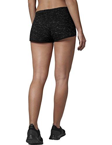 ... Urban Classics Damen Shorts Ladies Space Dye Hotpants Mehrfarbig (blk/ wht/blk 493 ...