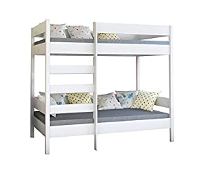 WNM Group Bunk bed Dino high two sleeper front entrance with 2 mattress
